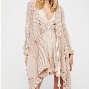 Free people all washed out boho cardigan sweater
